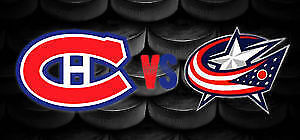 4 billet canadiens vs Columbus, Fev 28 section 108, rouge