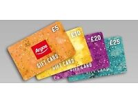ARGOS GIFT CARD VOUCHER OF £275.99