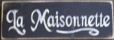 LA MAISONNETTE The Cottage FRENCH Country Sign Decor HP Wood Plaque Parisian NEW (Parisian Decor)