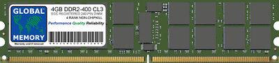 4GB DDR2 400MHz PC2-3200 240-PIN ECC REGISTERED RDIMM SERVER MEMORY RAM 4...