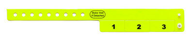 500 NEON YELLOW VINYL WRISTBANDS CASH TAB - Neon Yellow Wristbands
