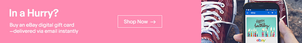 In a Hurry? Buy an eBay Digital Gift Card Delivered via email INSTANTLY | Shop Now