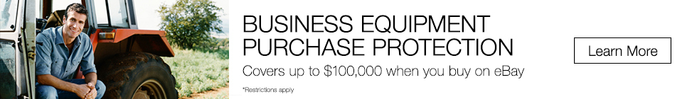 Business Equipment Protection | Covers up to $100,000 when you buy on eBay | *Restrictions Apply | Learn More