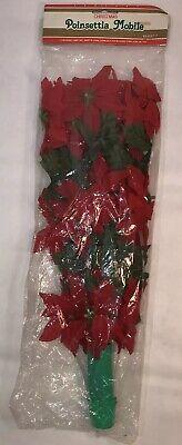 Vintage Christmas Poinsettia Mobile 1987 Rare Holiday Decor Centerpiece Holiday  ()