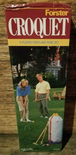 NEW Vintage Forster 3620 Portland Park 6 Player Croquet Set New in Box