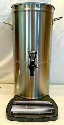 Vollrath Stainless Steel 4 Gallon Ice Tea Dispenser W Drip Tray Screen