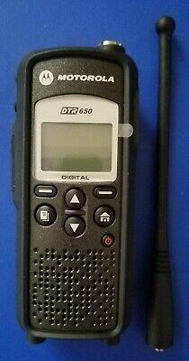 Mint Motorola Dtr650 Two-way Digital Business Radio Walkie Talkie Portable