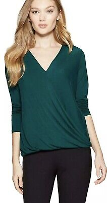 Women's Long Sleeve Drape Front Top ~ A New Day 551107 ~ Green Small