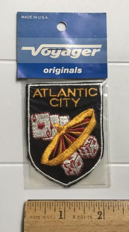 NIP Atlantic City NJ Casino Gambling Dice Roulette Wheel Souvenir Voyager Patch