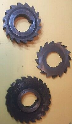 Lot Of 3 Slitting Saw Blades 1.250 Inch Arbor Hss