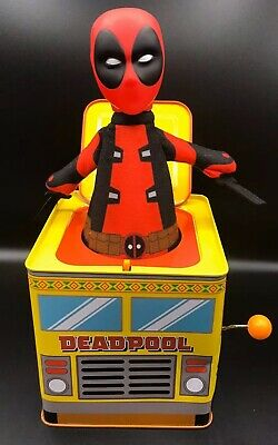Deadpool Marvel Jack-in-the-Box Limited Edition Plays Pop Goes The Weasel (Pop Goes The Weasel Jack In The Box)