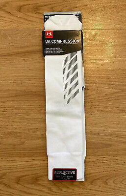 Under Armour Over the Calf Reflective UA Compression Running Socks Mens Size M