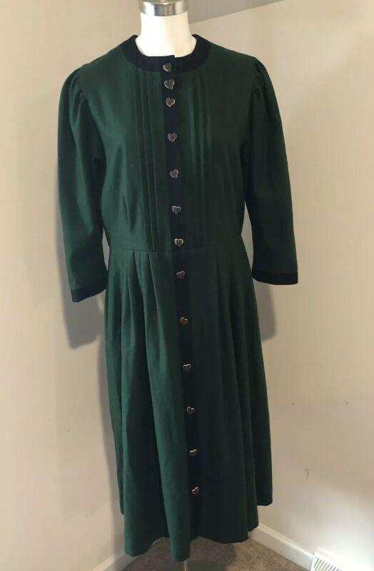 WOMAN Vintage HAMMERSCHMID GERMAN DRESS GREEN OCTOBERFEST 44