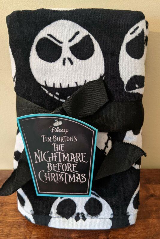 New Disney Hand Towels Jack Skellington Faces Nightmare Before Christmas 2 Pk
