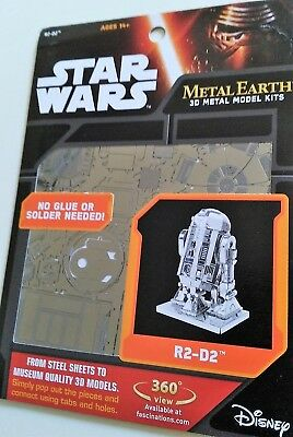 STAR WARS 3D Metal Earth* Metall-Bausatz R2-D2 * 3D Puzzle