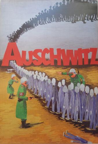 AUSCHWITZ JEWISH POSTER BY JOSEPH BAU HOLOCAUST SCHINDLER