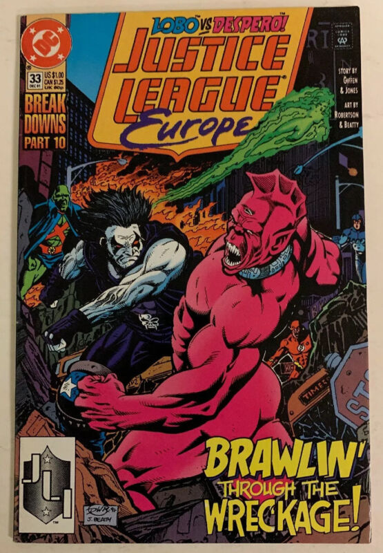 Justice League Europe 33 (1st App. Of Sonic The Hedge Hog) Dc 1991 (Movie Key!)