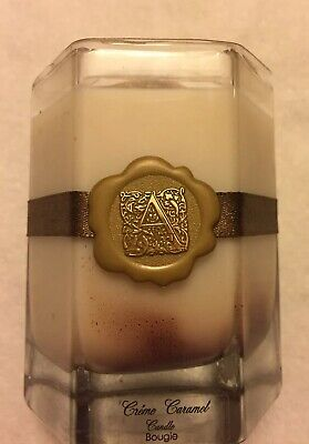 Aromatique  CREME CARAMEL 6 Oz Candle In Glass Container. New