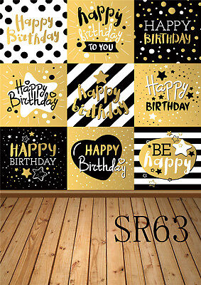 Happy Birthday Wishes Photography Backdrop Vinyl Photo Background Props 3X5ft