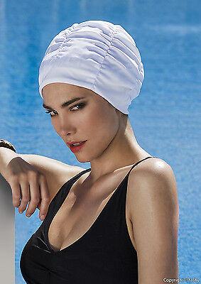 Fashy Badekappe Badehaube mit Innenhaube Damen weiß 3401 10