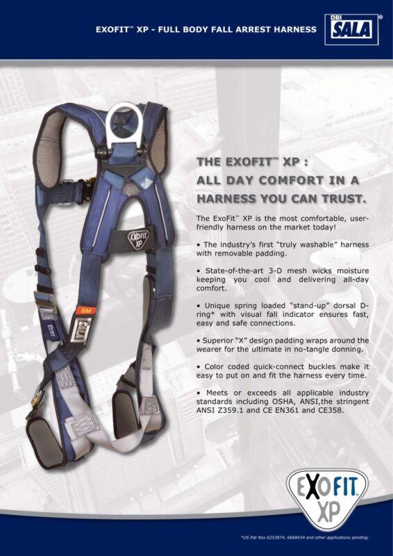 Brand New! DBI-SALA Exofit XP Full Body Safety Harness SMALL