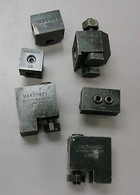 Hardinge Toolholders C19 C9 C18 C10 Ahc-29 Ahc-30 Lot Of Six