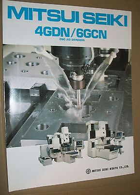 Mitsui Seiki Cnc Jig Grinding 4gdn6gcn Specification