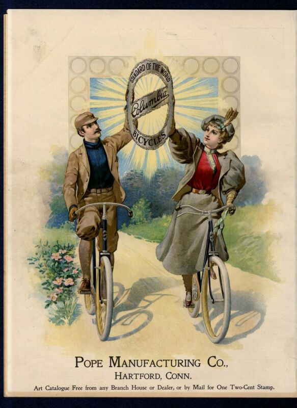 COLUMBIA BICYCLES STANDARD OF THE WORLD POPE MANUFACTURING 1897 ADVERTISEMENT