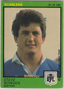 1982 SCANLENS RUGBY LEAGUE CARD #21 of 180: STEVE BOWDEN - NEWTOWN JETS 1982 SCANLENS RUGBY LEAGUE CARD #21 of 180: STEVE BOWDEN - NE. - %24_35