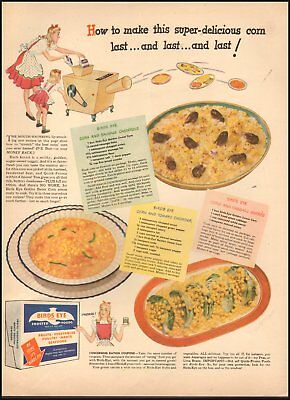 1952 Vintage ad for Birds Eye Frosted Foods`art Recipes cartoon      122318