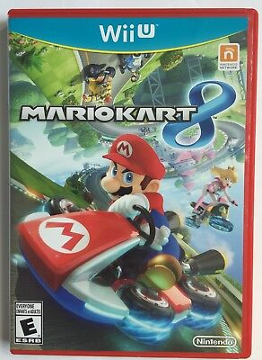 Mario Kart 8 (Nintendo Wii U, 2014) Clean with manual, Free USA Shipping