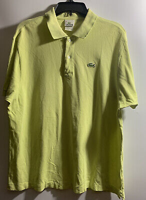 LACOSTE MEN'S LIME GREEN SHORT SLEEVE POLO SHIRT SIZE 8 (XL)