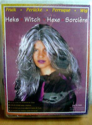 Perücke Hexe Halloween grau wild Hexenperücke lang Erwachsene - Karneval Erwachsenen Perücke