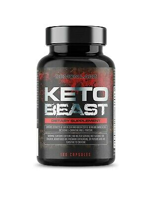 Demon Labz Keto Beast Weight Loss 180 Vegetarian Capsules