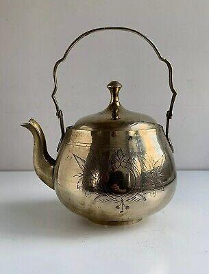 Vintage Brass Kettle - Retro Benares Ware - Decorative