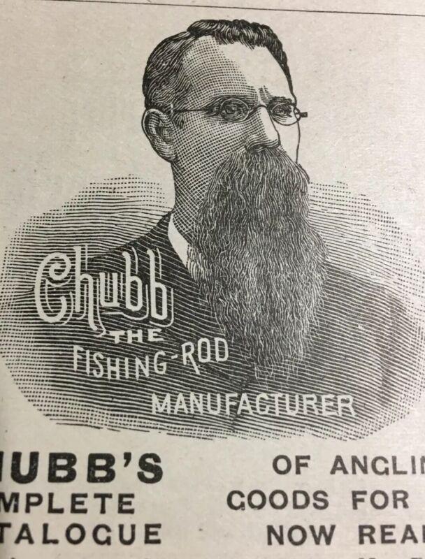 1891 Chubb Fishing Rod Print Ad Post Mills VT Haviland China Gormully Bicycle ++
