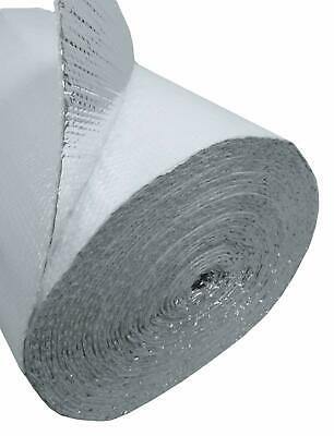 White Faced Double Bubble Reflective Foil Thermal Insulation 4x4 16sqft R8