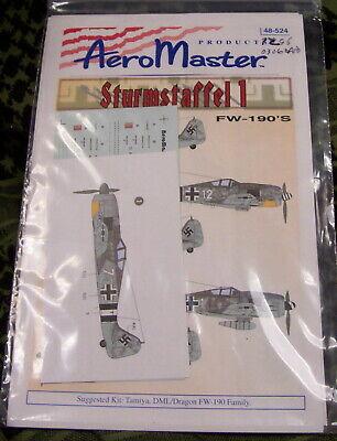 COLORFUL FW-190A-6 A-7 BUTCHER BIRD STURMSTAFFEL 1 1/48 Aeromaster 48-524