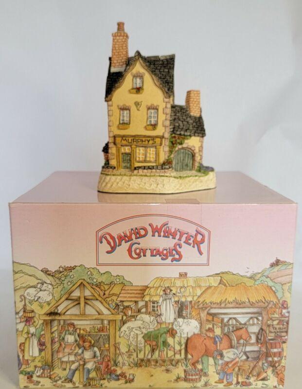 "David Winter Cottages - The Irish Collection ""Murphy's"" - MIB w/COA"