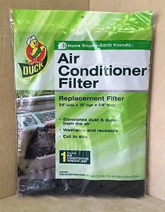 Air Conditioner Replacement Filter 24x15x1 4 Washable Foam