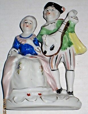Historical Couple (Vintage Figurine Victorian Colonial Historical Couple Occupied Japan)