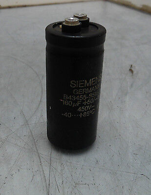 Siemens Electric Capacitor B43455-s5167-t1 450 V 160 Uf Used Warranty