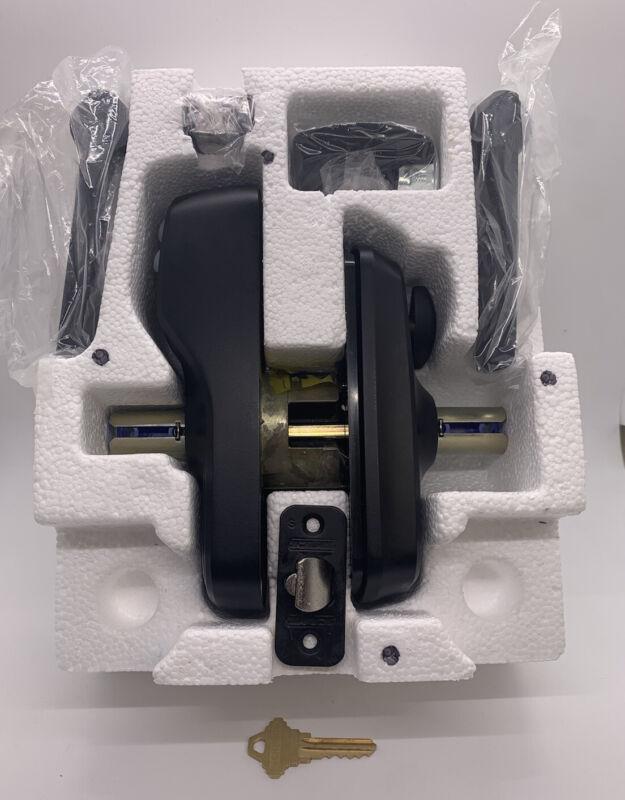 Schlage Cam Lighted Keypad Entry Lock Camelot Model FE595 Satin Nickel