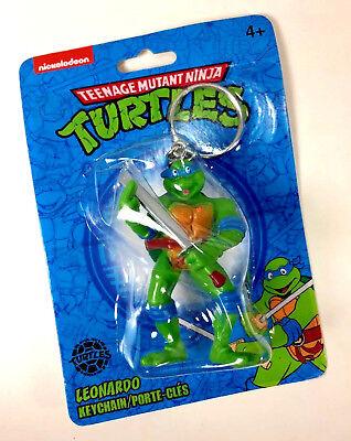 NEW Nickelodeon Teenage Mutant Ninja Turtle LEONARDO KEYCHAIN Leo Blue - Blue Ninja Turtle