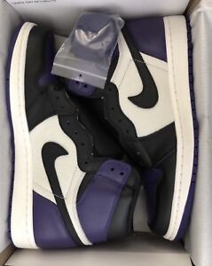 Air Jordan 1 Court Purple DS Sz 10