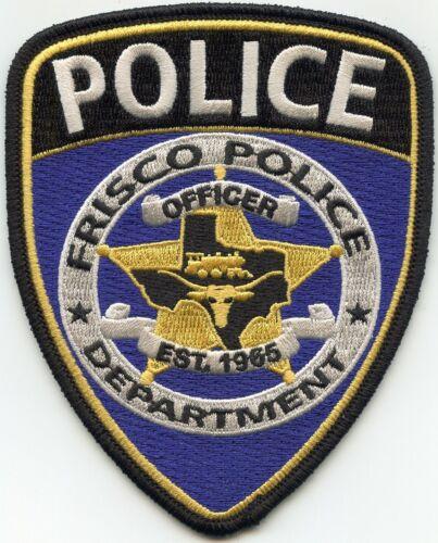 FRISCO TEXAS TX POLICE PATCH