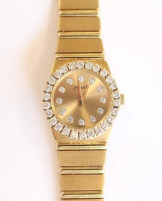Piaget Polo Mini 18K Yellow Gold and Diamond Gold Dial Ladies Watch