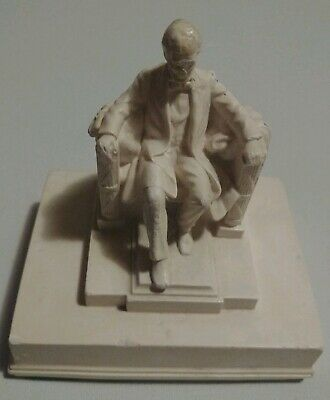 Vtg Sebastian Alabaster Marble Abe Abraham Lincoln Memorial Statue Paper Weight for sale  Boise