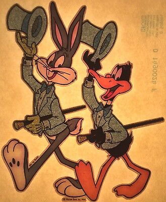 Original Bugs Bunny & Daffy Duck on Broadway Iron On Warner Bros Looney Toons