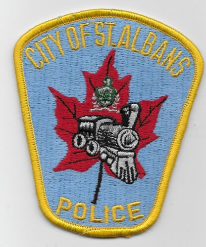 Older Train patch St Albans Police State Vermont VT Colorful